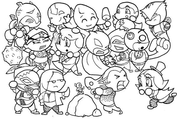 jla justice league coloring pages | Justice League CHIBIS by skyloreang on DeviantArt