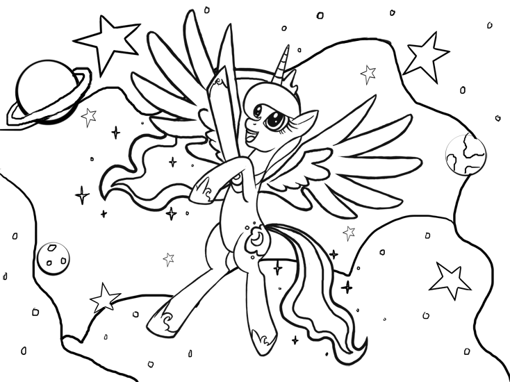 Coloring Pages Of Princess Luna : Princess luna coloring page by kamiraceeker on deviantart
