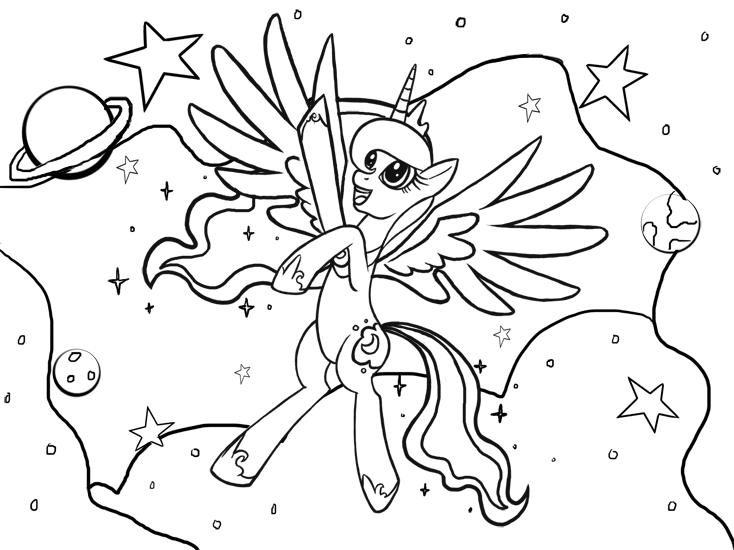 Princess Luna Coloring Page By KamiraCeeker