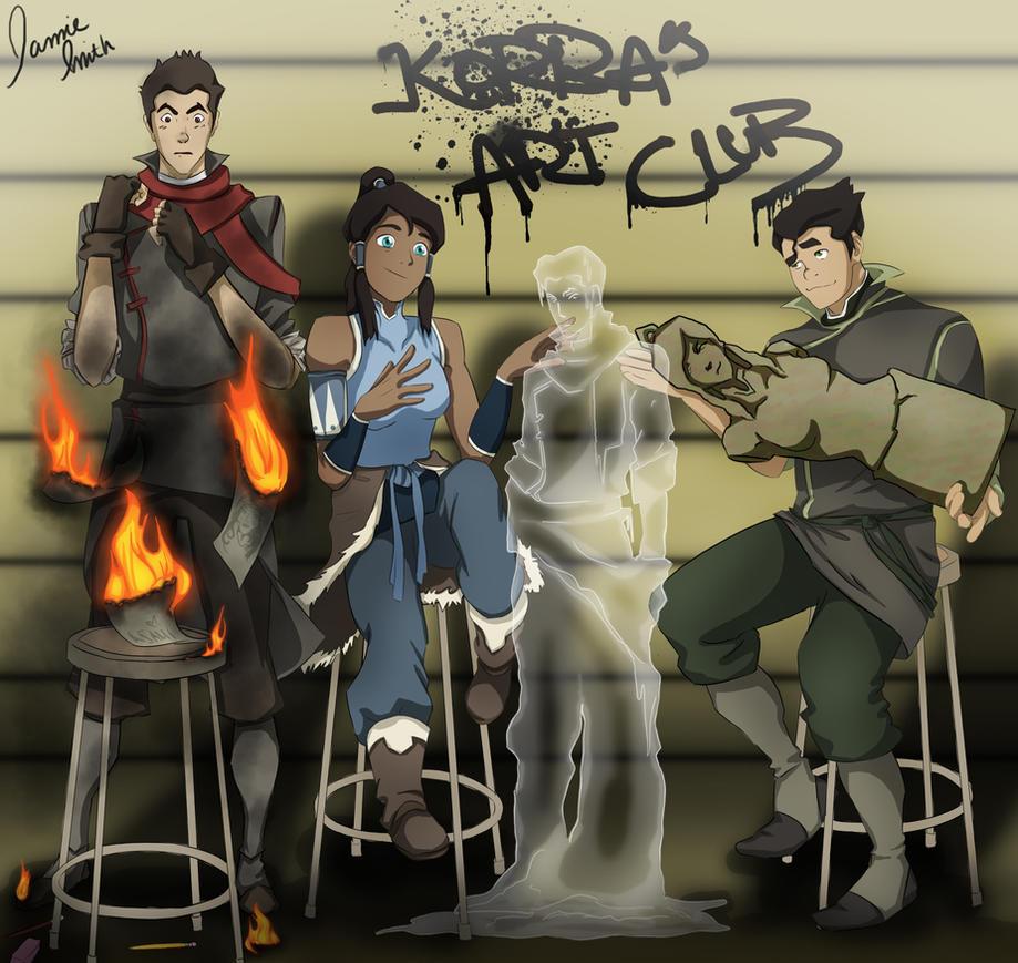 Korra's Art Club by ofpink
