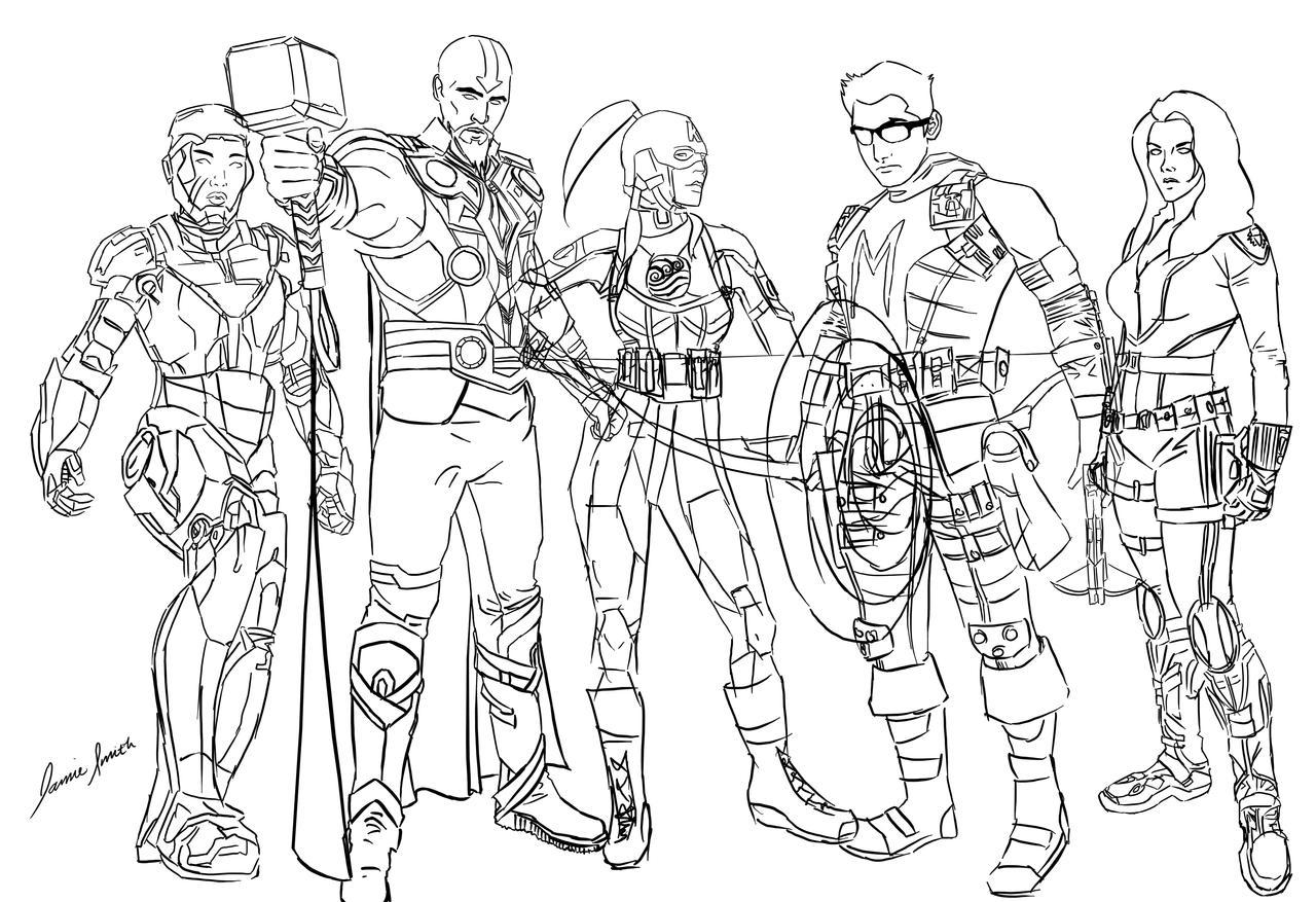 Bender Avengers Sketch by ofpink on DeviantArt  Bender Avengers...