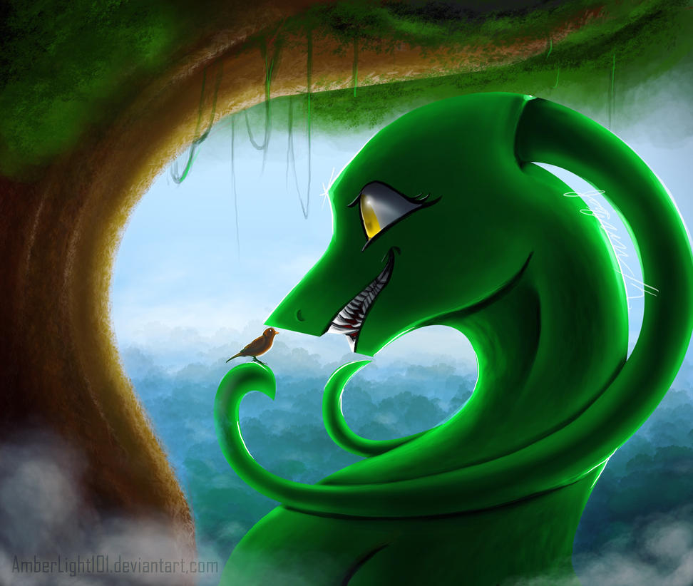 Green Dragon....??? by AmberLight101