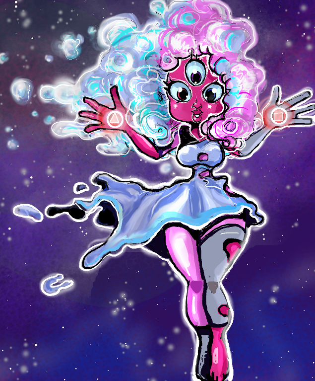 Cotton Candy Garnet by Thinston