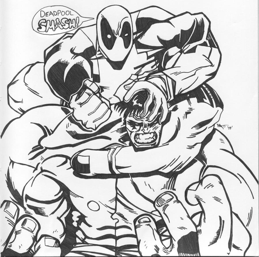 Deadpool vs The Hulk by eternalsaviour on DeviantArt