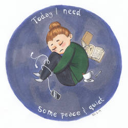Today I need some peace and quiet by OakenshieldArt