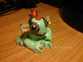Green Baby Murloc Figurine by Euphyley
