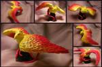 Polymer Clay Ashes of Al'ar Phoenix Figurine