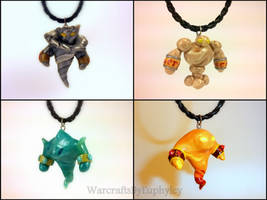 WoW Inspired Elementals (Wind, Earth, Water, Fire) by Euphyley