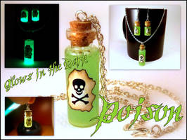 Deadly Poison Vial Necklace and Earrings