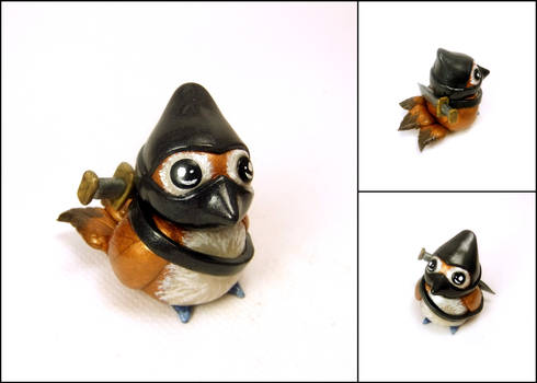 Ninja Pepe Sculpture - World of Warcraft Inspired