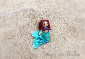 Polymer Clay Mermaid Necklace for #MerMay