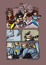 Careful with that hook - Overwatch by GunShad