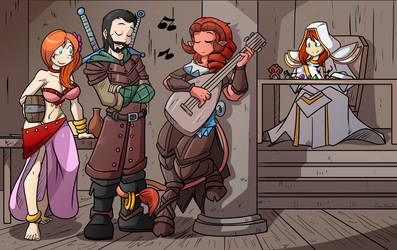 In the tavern - Commission by GunShad