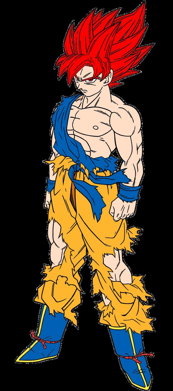 My Version Of Super Saiyan God Goku By Sonichedgehog2 On
