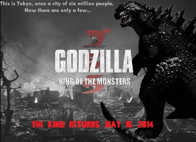Godzilla 2014 Fan-Made Promo Banner by sonichedgehog2