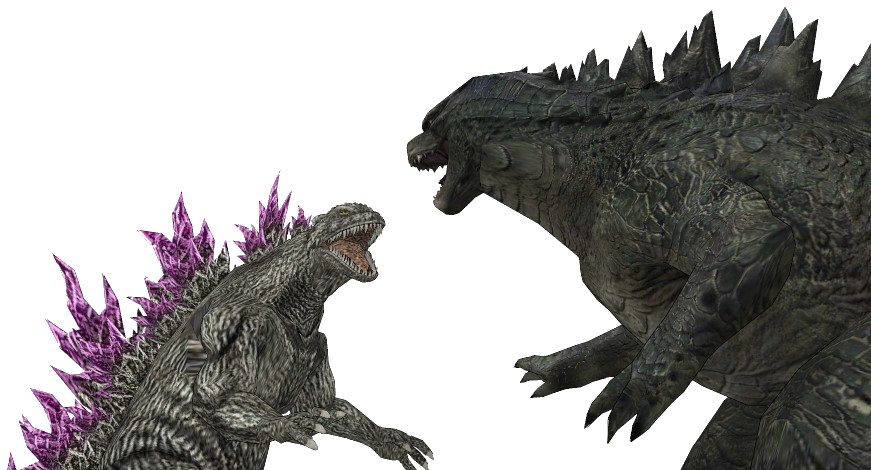 Godzilla 2014 VS Godzilla 2000 by sonichedgehog2 on DeviantArt