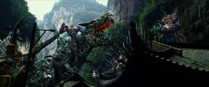 The Autobots and the Dinobots.