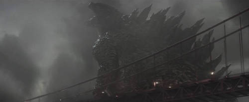 Godzilla 2014: The King at the Bridge by sonichedgehog2