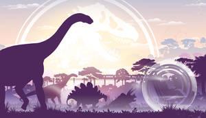 Jurassic World: Light Background by sonichedgehog2