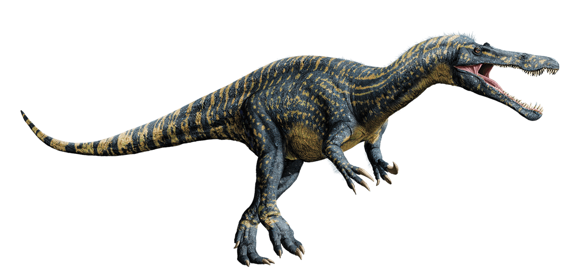 The Jurassic World dinosaur models