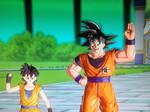 Kisa and Goku by sonichedgehog2