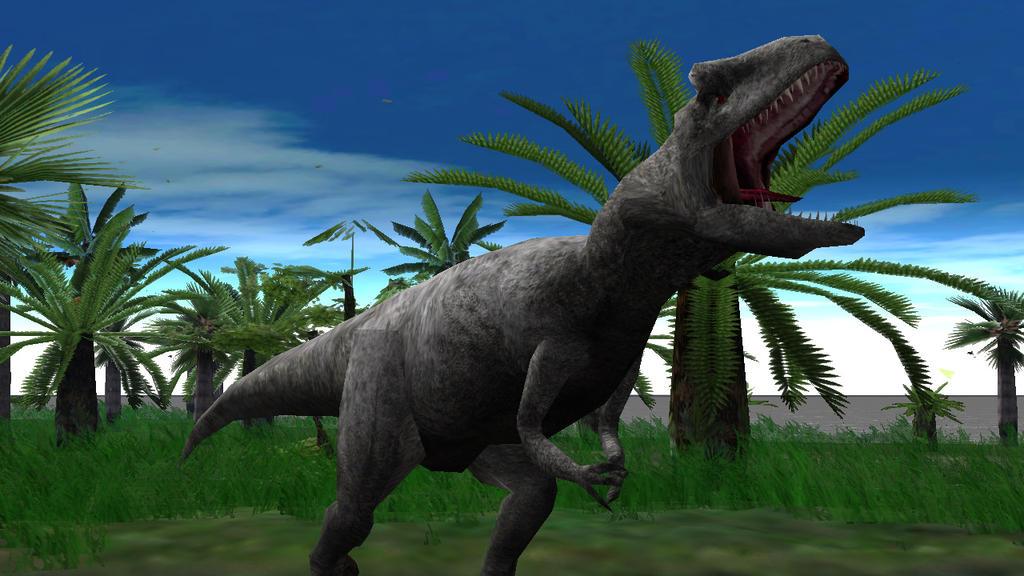 Jurassic park operation genesis carcharodontosaurus vs t rex