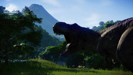 Jurassic World: The Queen and the Mountain of Fire by sonichedgehog2
