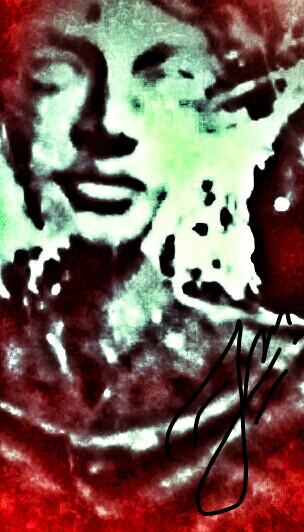 Kobieta w czerwieni by obrazowo