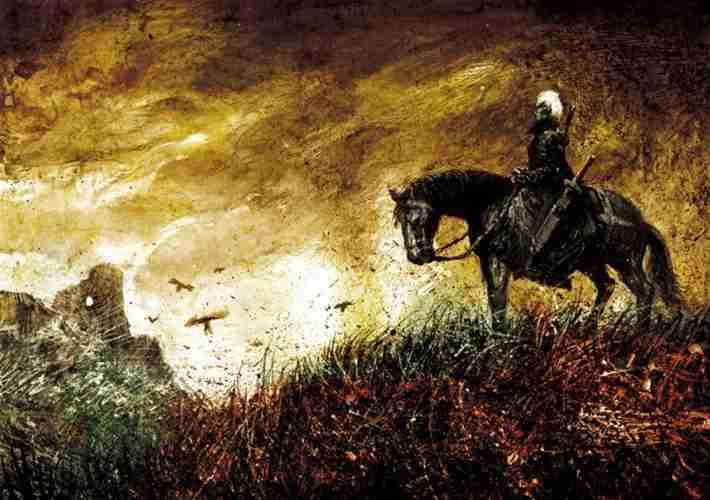 The Witcher na koniu by Gierek76