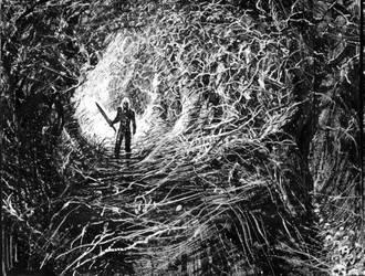 The Witcher w lesie by Gierek76