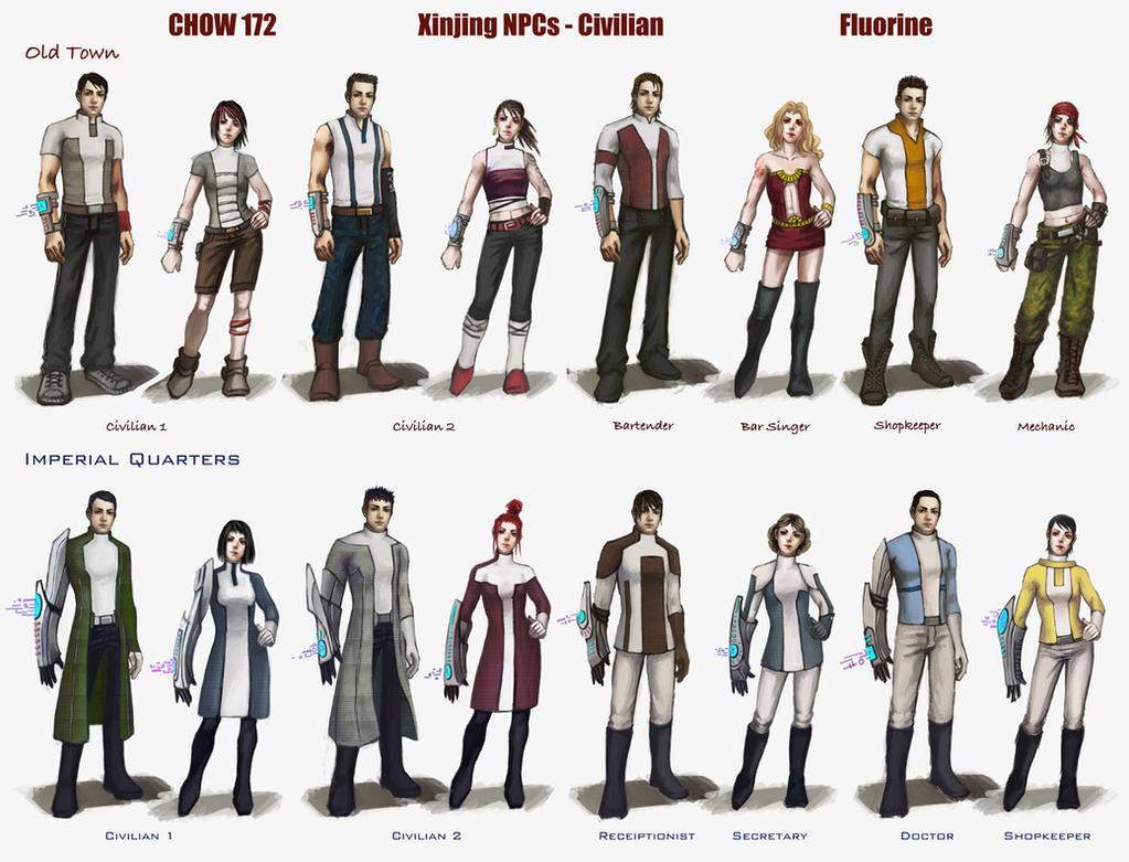 Character And Npc Design : Npc design line up by fluorinespark on deviantart