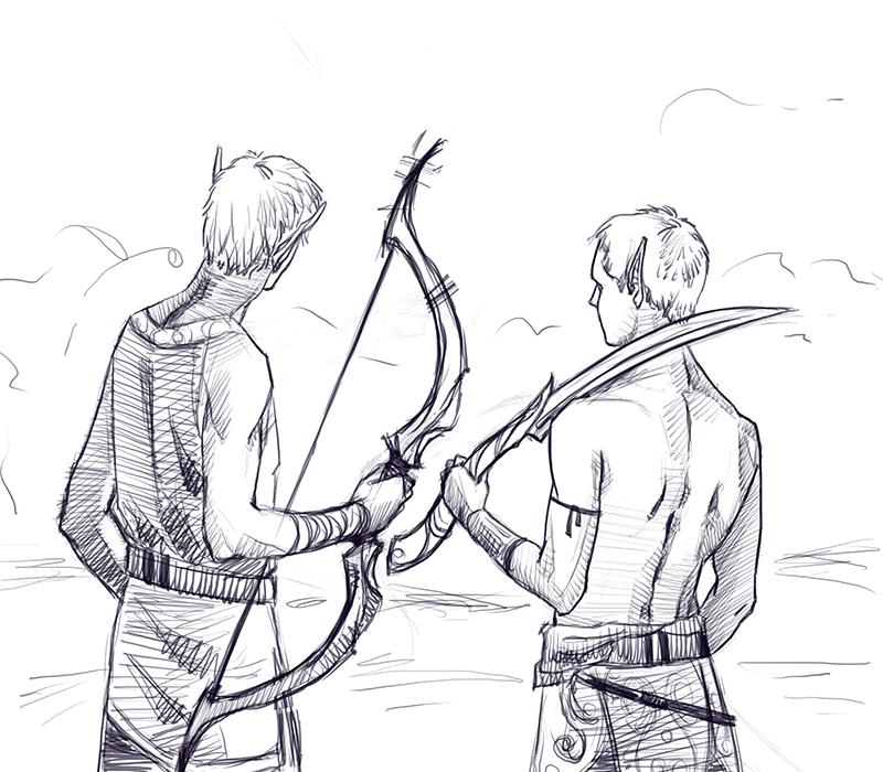 Elven Boys (Reddit Drawme) by FluorineSpark