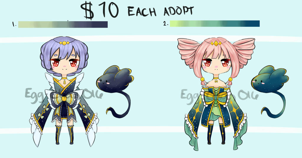 Adopt Batch Set Price $10 Each by Egg-Chan016