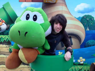 Me and Yoshi!! :D by jordansweeto