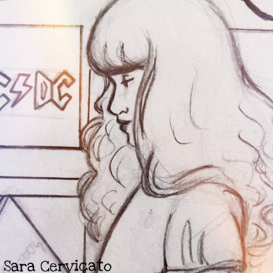 Record Store Pencil Sketch by SaraCer03