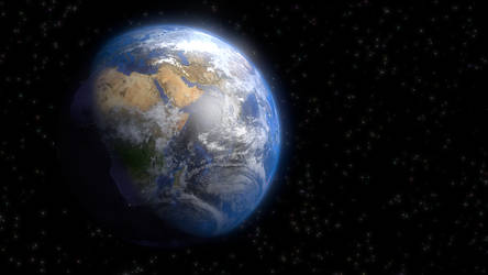 the earth in outer space