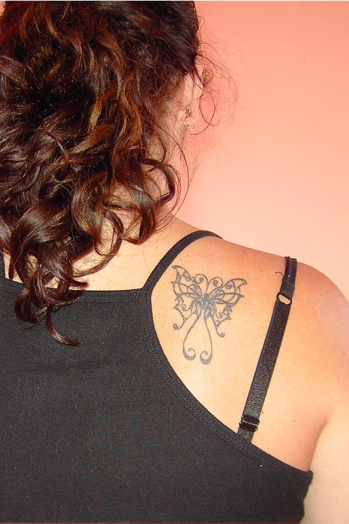 butterfly tat - butterfly tattoo