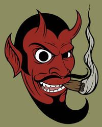 Smoking Devil by luther1000