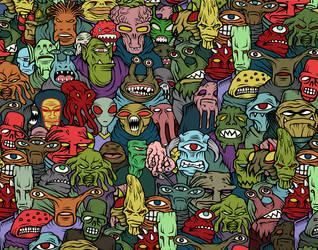 aliens - aliens - aliens by luther1000