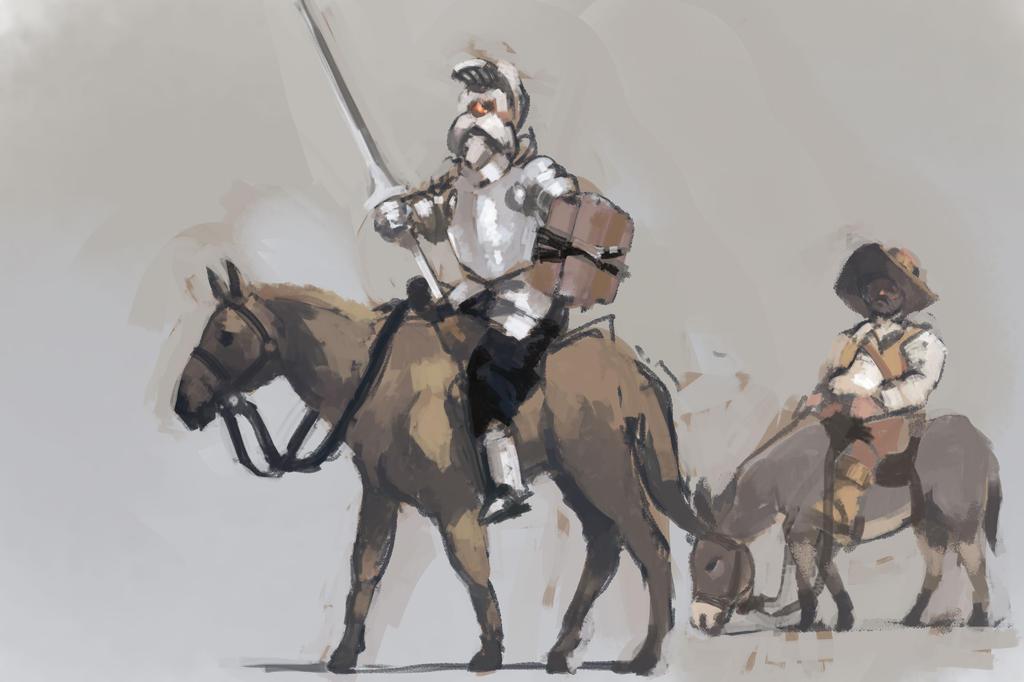 VONYC565: Don Quixote y Sancho Panza by Hamsta180