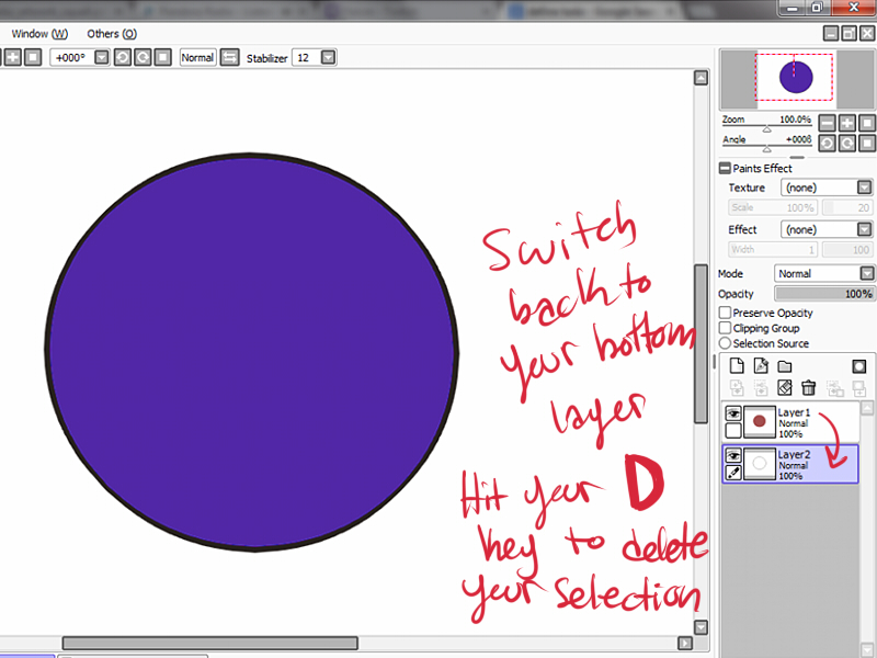 Paint Tool Sai How To Make A Circle