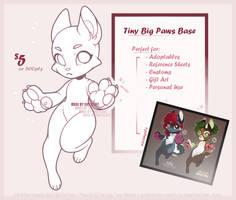 Tiny Big Paws Base [P2U] by SillySinz