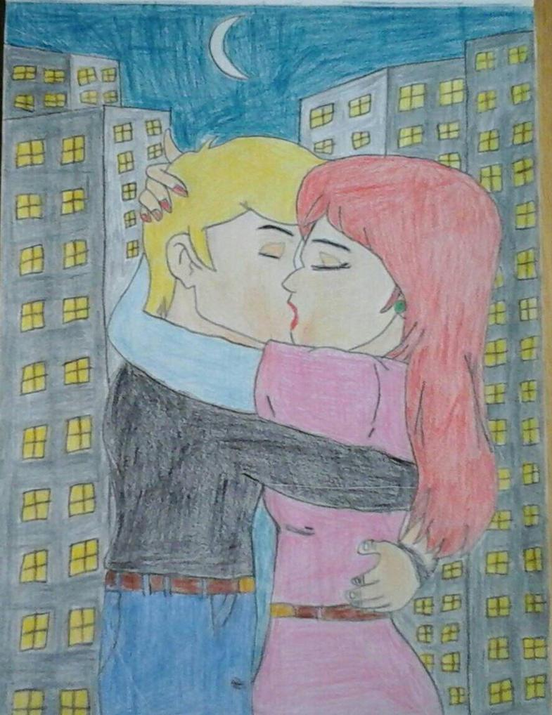 Jonny and Jessie kiss by JQROXKS21 by JQroxks21