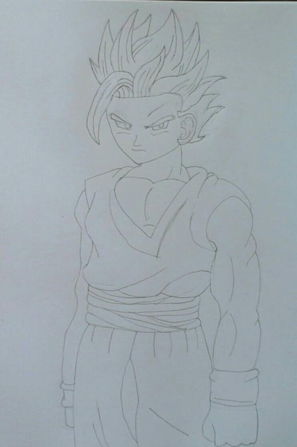 Super Sayian 2 Gohan (Pencil Version ) by JQroxks21
