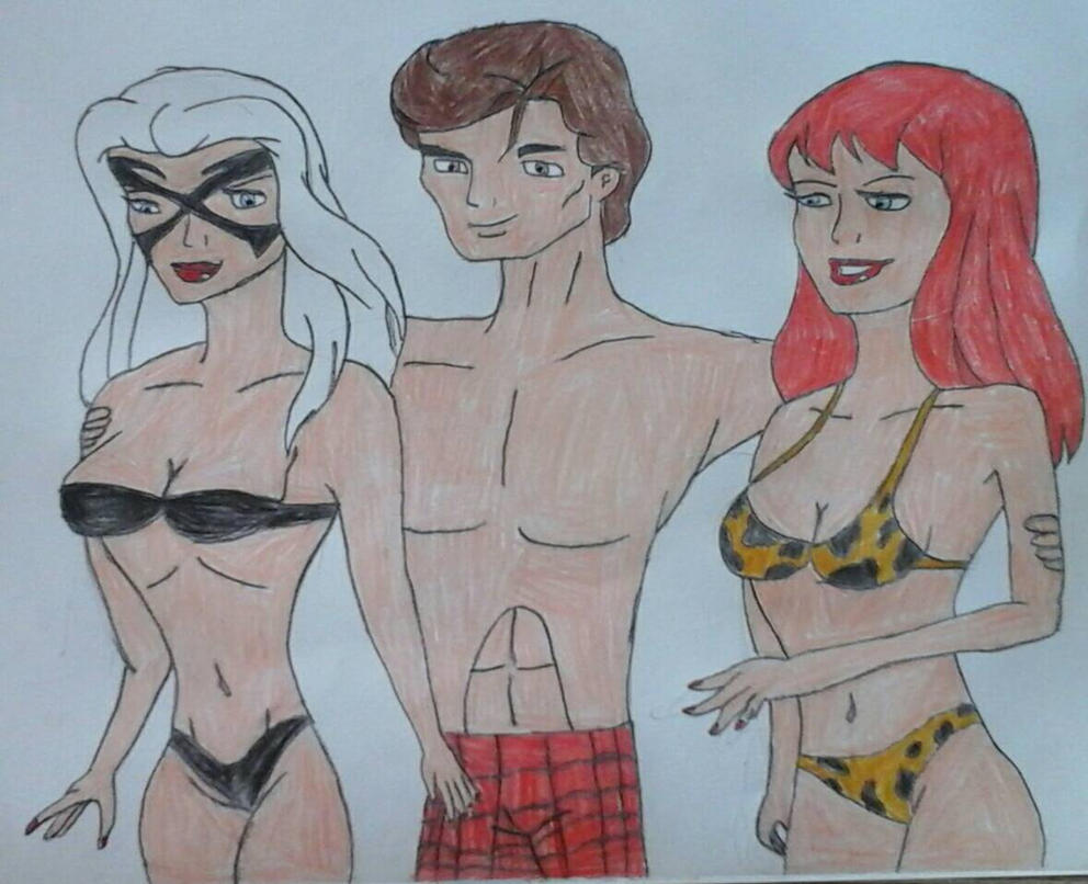 Peter, Mary Jane and Felicia by JQroxks21