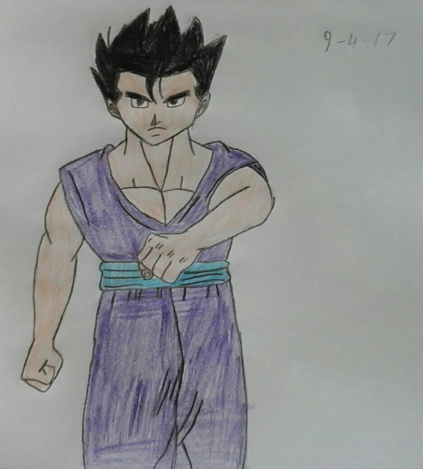 Gohan without his Wrist Bands by JQroxks21