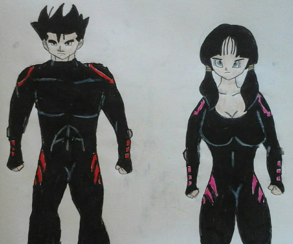 Gohan and Videl in Questworld Outfits by JQroxks21
