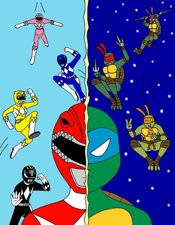 Power Rangers vs. TMNT by streetgals9000 by JQroxks21