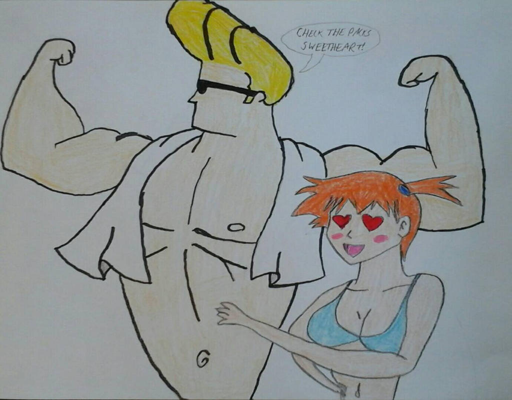 Johnny Bravo meets Misty by JQroxks21