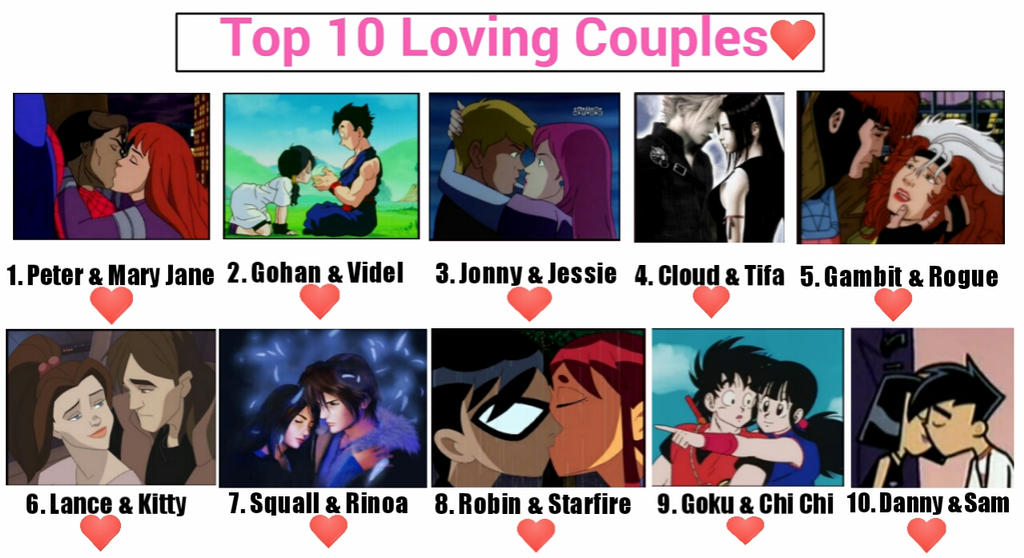 Top 10 Loving Couples by JQroxks21